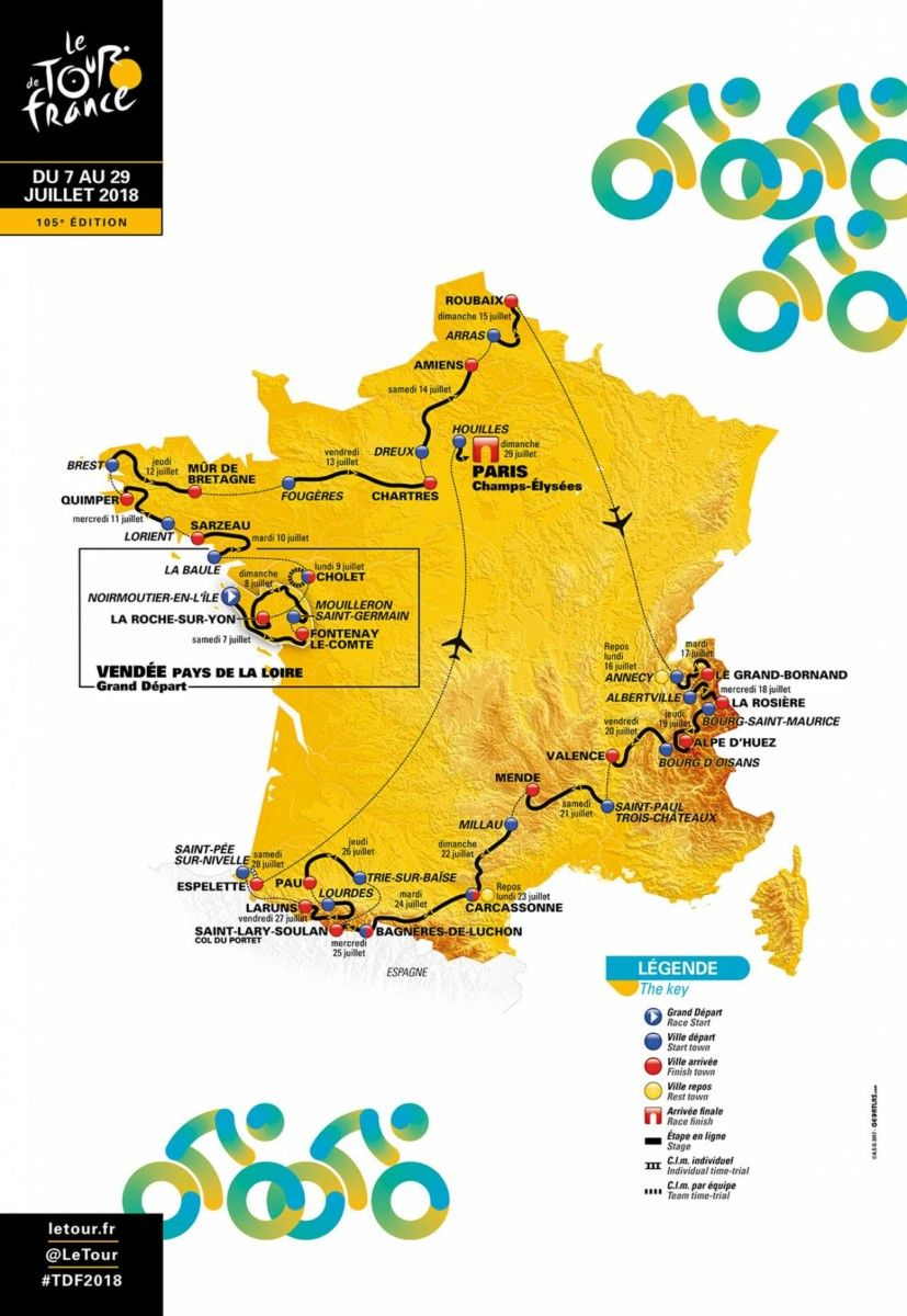 Map Of France Vendee.Witness The Tour De France 2018 Thanks To Home Exchange