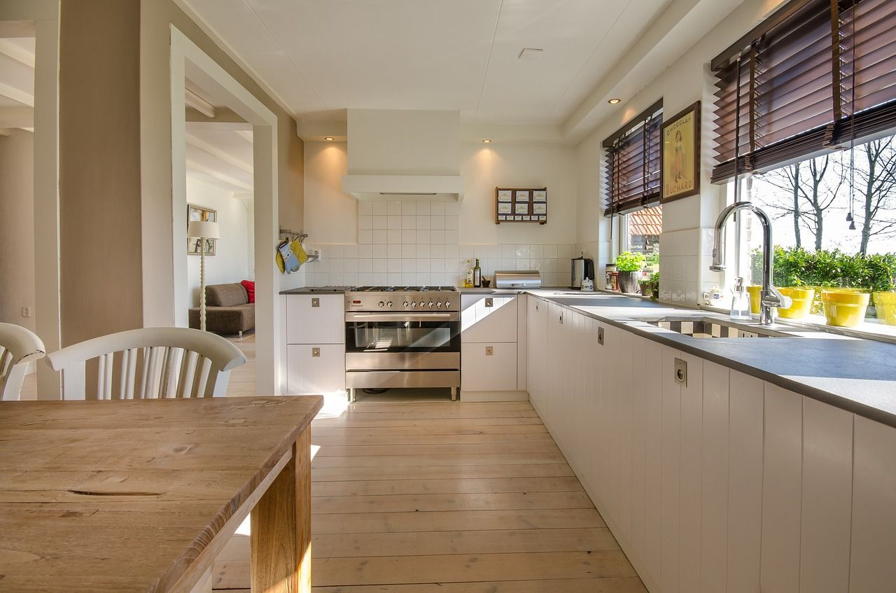 home exchange tidy kitchen