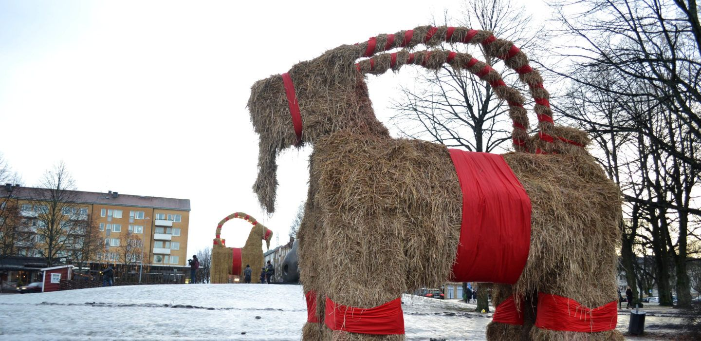 Tradizioni di Natale Gävle Goat Svezia