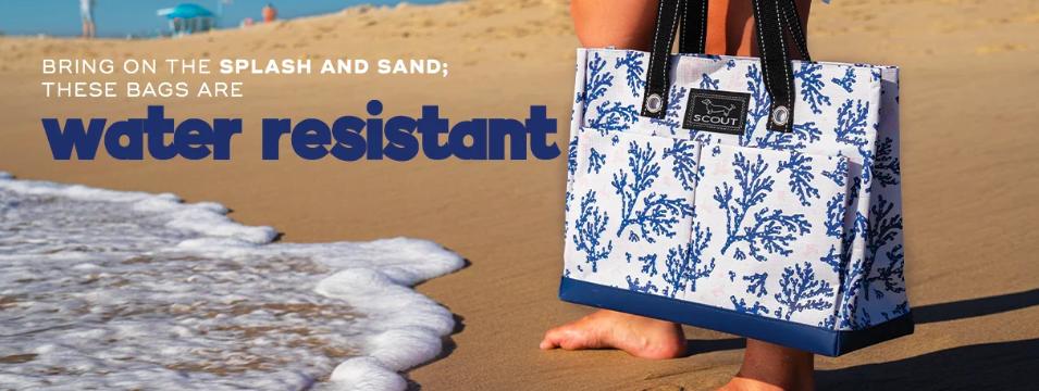 Scout water-resistant beach bag- beach essentials from HomeExchange