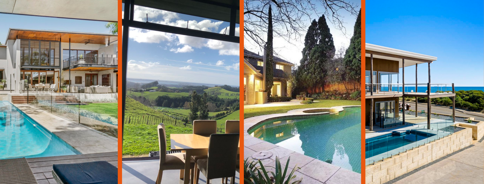 Tranquil homes with pools available this summer in Australia and New Zealand