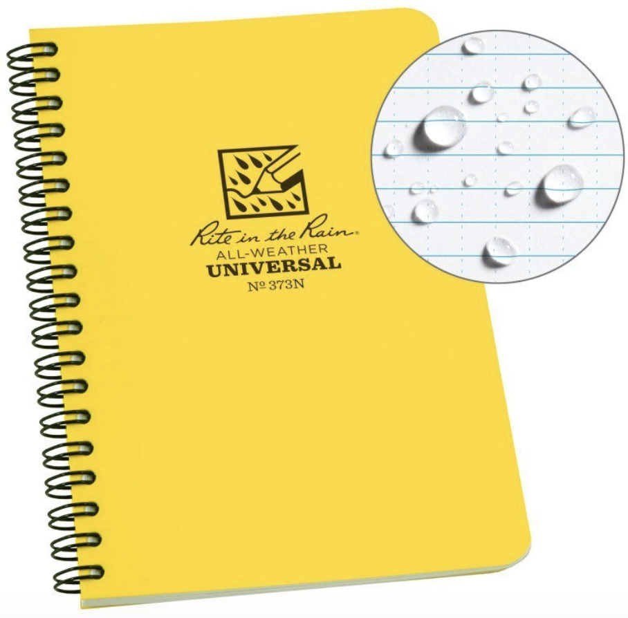 Rite in the Rain All Weather travel notebook gift ideas