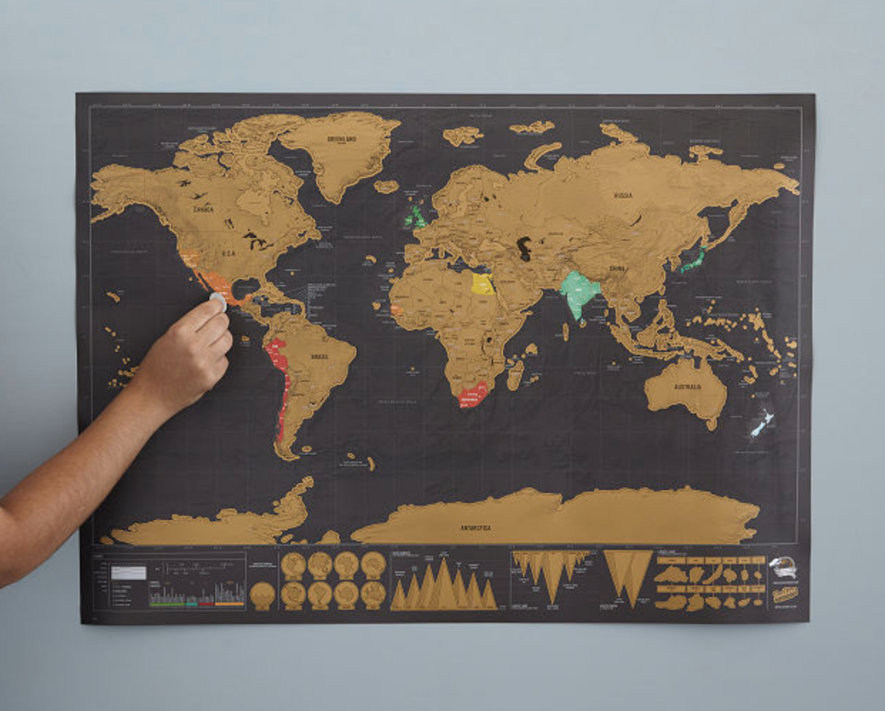 Scratch Map deluxe HomeExchange gift guide for travelers