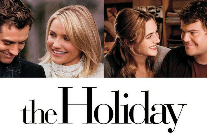 the holiday, christmas movie, romantic movie, romantic comedy, christmas vacation, home exchange