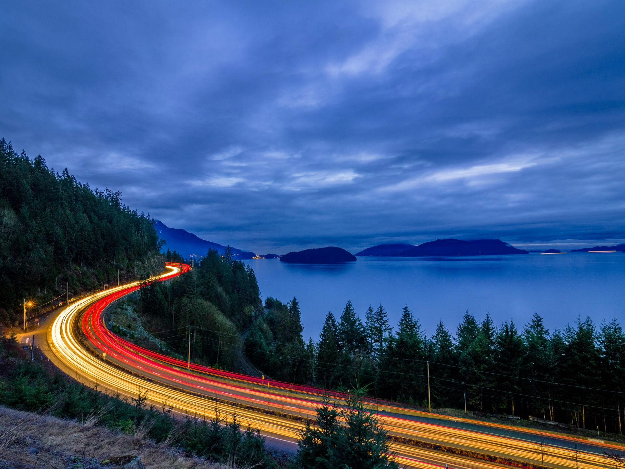 Drive along British Columbia's Sea-to-Sky Highway